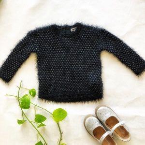 DKNY Girls Fuzzy Sweater Size 18M EUC